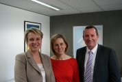 Mark McGowan and Tanya Plibersek open Simone's new office on Market Street