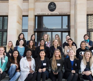 Young women paint bright future for gender equality in WA
