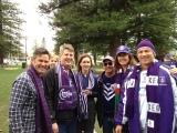 Dockers fans at the Esplanade