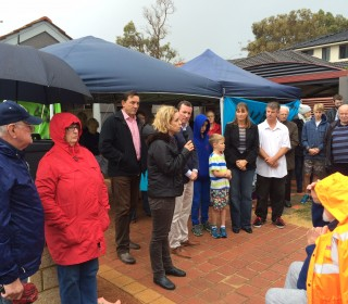 Palmyra residents rally against Perth Freight Link