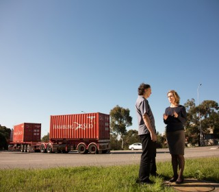 Barnett Government hides from today's Perth Freight Link Senate inquiry in Fremantle