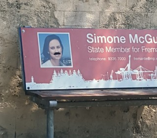 Simone 'grows' a mo for charity