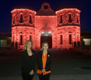 Prison Gatehouse Goes Orange for 16 Days in WA
