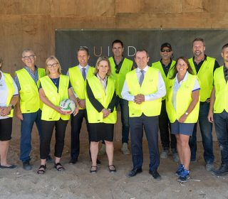 Construction progressing at iconic Fremantle netball hub
