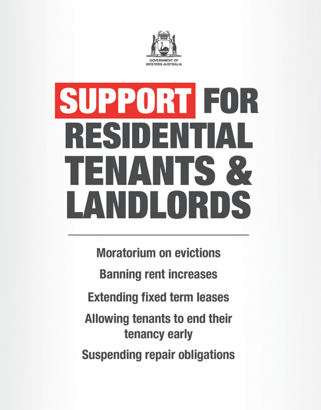 New laws to provide support for commercial and residential tenants and landlords