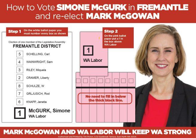 How to Vote for Mark McGowan & Simone McGurk